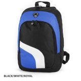 Blue/white/Royal Backpack with Inside Zippered Mesh Pocket Expre