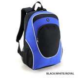 Black/White/Royal Gala Backpacks