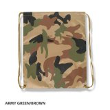 Army Green/Brown Promotional Camo Backsack Express