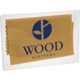 Tan Microfiber Cleaning Cloth in Case
