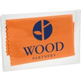 Orange Microfiber Cleaning Cloth in Case