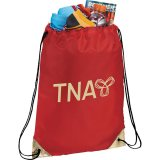 Red Metallic Accent Drawstring Sportspack 06