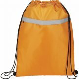 Orange Front The Reflecta Drawstring Cinch Backpack