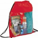Red Printed The Guide Clear Drawstring Cinch Backpack