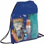 Blue Printed The Guide Clear Drawstring Cinch Backpack