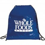 Blue Printed The Guide Clear Drawstring Cinch Backpack 01