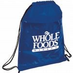 Blue Printed The Guide Clear Drawstring Cinch Backpack 02