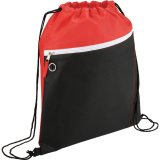 Red Sideways The Slant Drawstring Cinch Backpack