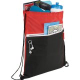 Red Sideways The Slant Drawstring Cinch Backpack 01