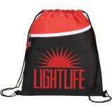 Red Front The Slant Drawstring Cinch Backpack
