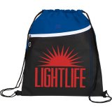 Royal Blue Printed The Slant Drawstring Cinch Backpack