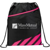 Pink Decorated Flash Drawstring Sportspack
