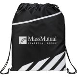 White Decorated Flash Drawstring Sportspack