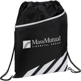 White Decorated Front View Flash Drawstring Sportspack
