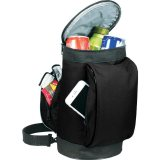 Open view of black The Golf Bag Cooler