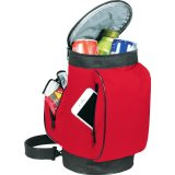 Open View red The Golf Bag Cooler