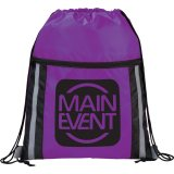 Purple Printed  The Deluxe Reflective Drawstring Cinch