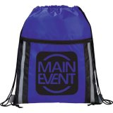 Royal Blue Printed  The Deluxe Reflective Drawstring Cinch