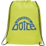 Lime Green Printed Large Champion Drawstring Cinch Backpack