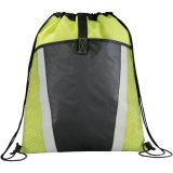 Lime Green The Vortex Drawstring Cinch Backpack