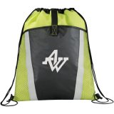 Lime Green Printed The Vortex Drawstring Cinch Backpack