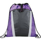 Purple Front The Vortex Drawstring Cinch Backpack