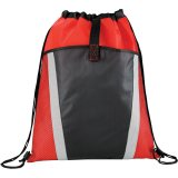 Red The Vortex Drawstring Cinch Backpack