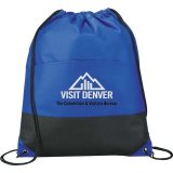 Royal Blue Printed The West Coast Drawstring Cinch Backpack
