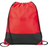 Red The West Coast Drawstring Cinch Backpack
