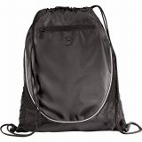Black The Peek Drawstring Cinch Backpack