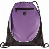 Purple The Peek Drawstring Cinch Backpack