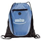 Royal Blue Printed  The Peek Drawstring Cinch Backpack