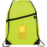 Lime Green Printed The Robin Drawstring Backpack