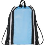 Light Blue Reflective Drawstring Cinch Backpack