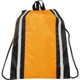 Orange Reflective Drawstring Cinch Backpack