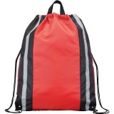 Red Reflective Drawstring Cinch Backpack