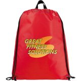 Red Printed Reflective Drawstring Cinch Backpack