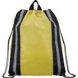 Yellow Reflective Drawstring Cinch Backpack