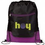 Purple Printed The Libra Drawstring Cinch Backpack