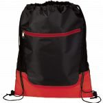 Red The Libra Drawstring Cinch Backpack