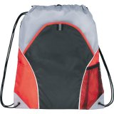 Red Front The Marathon Drawstring Cinch Backpack
