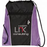 Purple Printed The Funnel Drawstring Cinch Backpack