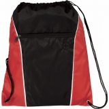 Red The Funnel Drawstring Cinch Backpack