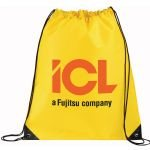Yellow Printed Large Oriole Drawstring Cinch Backpack