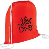 Red Printed The Condor Cotton Drawstring Cinch
