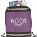 Purple Printed The Eagle Drawstring Cinch Backpack 01
