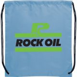 Light blue The Oriole Drawstring Cinch Backpack 02