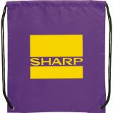 Purple The Oriole Drawstring Cinch Backpack 02