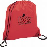 Red The Oriole Drawstring Cinch Backpack 03