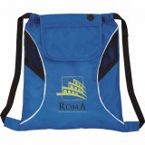 Royal Blue Printed The Bumblebee Drawstring Cinch Backpack